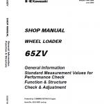 Kawasaki 65ZV, 65TMV Wheel Loader Repair Service Manual