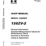 Kawasaki 135ZV-2 Wheel Loader Service Manual
