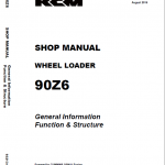 Kawasaki 90Z-6 Wheel Loader Service Manual