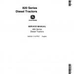 John Deere 80, 820, 830 (80 Series) Tractors Service Manual