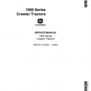 John Deere 1000 and 1010 Series Crawler Tractors Service Manual