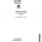 John Deere 2700, 2800, 2900 Tractors Repair Service Manual
