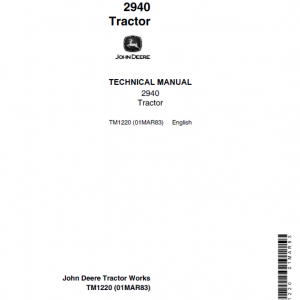 John Deere 2940 Tractor Repair Service Manual