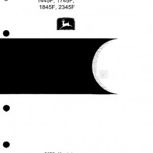 John Deere 1445F, 1745F, 1845F, 2345F Tractors Repair Service Manual