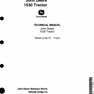 John Deere 1530 Tractor Repair Service Manual
