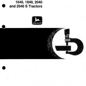 John Deere 1640, 1840, 2040, 2040S Tractors Service Manual