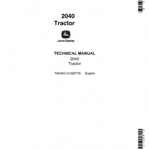 John Deere 2040 Tractor Repair Service Manual