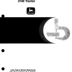 John Deere 2140 Tractor Repair Service Manual