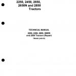 John Deere 2250, 2450, 2650, 2650N, 2850 Tractors Repair Service Manual