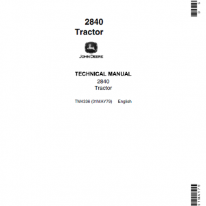 John Deere 2840 Tractor Repair Service Manual