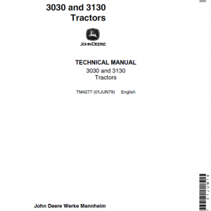 John Deere 3030, 3130 Tractors Repair Service Manual