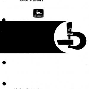 John Deere 3050, 3350, 3650 Tractors Repair Service Manual