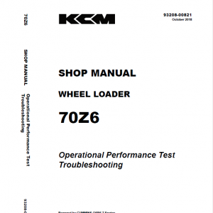 Kawasaki 70Z-6 Wheel Loader Service Manual