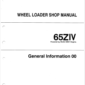 Kawasaki 65ZIV Wheel Loader Service Manual