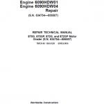John Deere 870G, 870GP, 872G, 872GP Grader Manual (S.N 634754 -656507 & Engines W01 & W04)