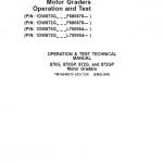 John Deere 870G, 870GP, 872G, 872GP Grader Service Manual (S.N F680878 & L700954 – )