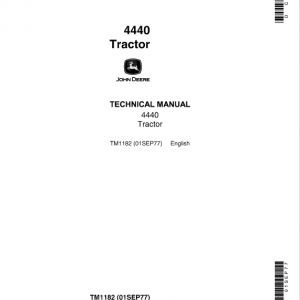 John Deere 4440 Tractor Repair Service Manual