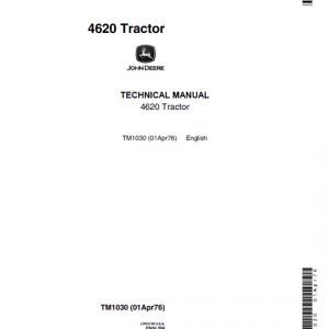 John Deere 4620 Tractor Service Manual