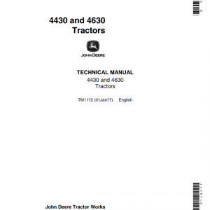 John Deere 4430, 4630 Tractors Repair Service Manual