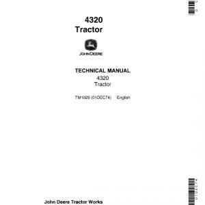 John Deere 4320 Tractor Service Manual