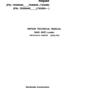 John Deere 944K Hydrid 4WD Loader Service Manual