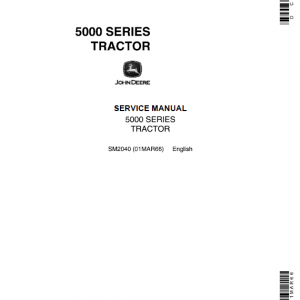 John Deere 5010, 5020 Tractors Repair Service Manual SM2040 & TM1022