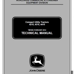 John Deere 4210, 4310, 4410 Compact Utility Tractors Service Manual TM1985