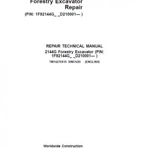 John Deere 2144G Forestry Excavator Repair Service Manual ( SN D210001 -)