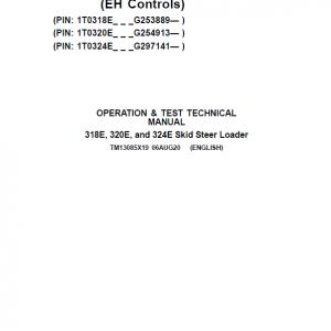 John Deere 318E, 320E, 324E SkidSteer Loader Manual (EH Controls - SN after G253889)
