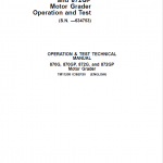 John Deere 870G, 870GP, 872G, 872GP Grader Service Manual (S.N – 634753 )