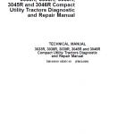John Deere 3033R, 3038R, 3039R, 3045R, 3046R Compact Utility Tractors Service Manual