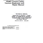 John Deere 3025E, 3032E, 3036E, 3038E Utility Tractors Service Manual (S.N from 610000 – )