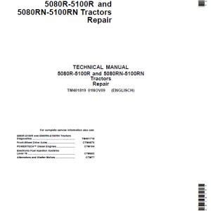 John Deere 5080R, 5080RN, 5090R, 5090RN, 5100R, 5100RN Tractor Repair Manual
