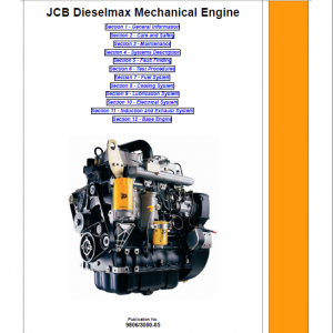 JCB 444, 448 Dieselmax Mechanical Engine Repair Service Manual