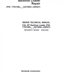 John Deere 310L EP Backhoe Loader Service Manual (S.N after G273920 - G329327 )