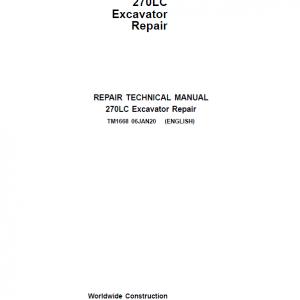 John Deere 270LC Excavator Repair Service Manual