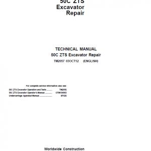 John Deere 50C ZTS Excavator Repair Service Manual