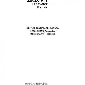 John Deere 225CLC RTS Excavator Repair Service Manual