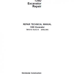 John Deere 135D Excavator Repair Service Manual