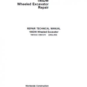 John Deere 190DW Wheeled Excavator Service Manual
