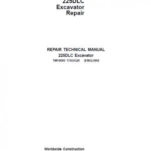 John Deere 225DLC Excavator Repair Service Manual