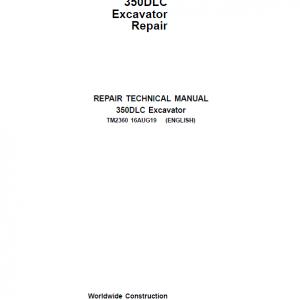 John Deere 350DLC Excavator Repair Service Manual