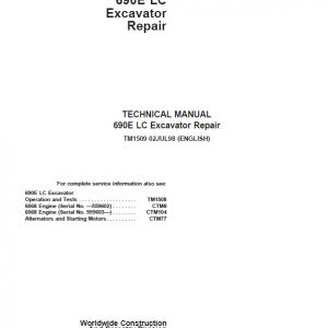 John Deere 690E LC Excavator Repair Service Manual