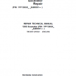 John Deere 135GLC Excavator Repair Service Manual (S.N after E400001 – )