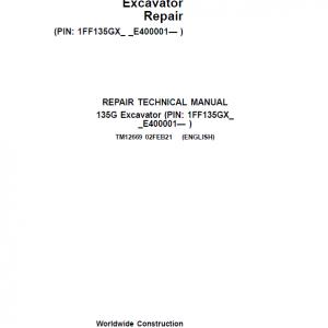 John Deere 135GLC Excavator Repair Service Manual (S.N after E400001 - )
