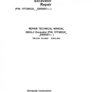 John Deere 380GLC Excavator Repair Service Manual (S.N after E900001 - )