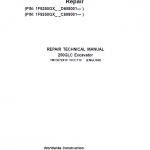 John Deere 250GLC Excavator Repair Service Manual (PIN: 1F9250GX_ C608001 & D608001- )