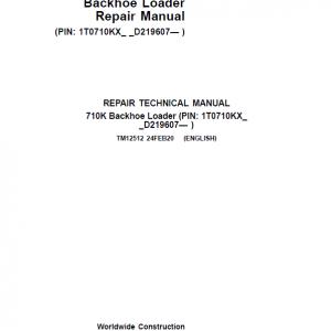 John Deere 710K Backhoe Loader Repair Service Manual (S.N after D219607 - )