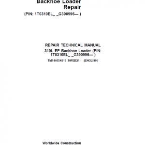 John Deere 310L EP Backhoe Loader Repair Service Manual (S.N after G390996 -)