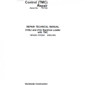 John Deere 310SJ, 410J Backhoe Loader (TMC) Service Manual (S.N before 161702 )